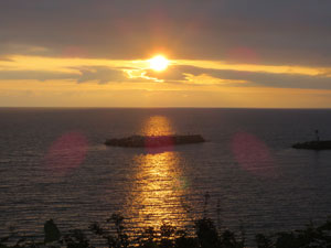 ④きのえ荘からの夕陽.jpg